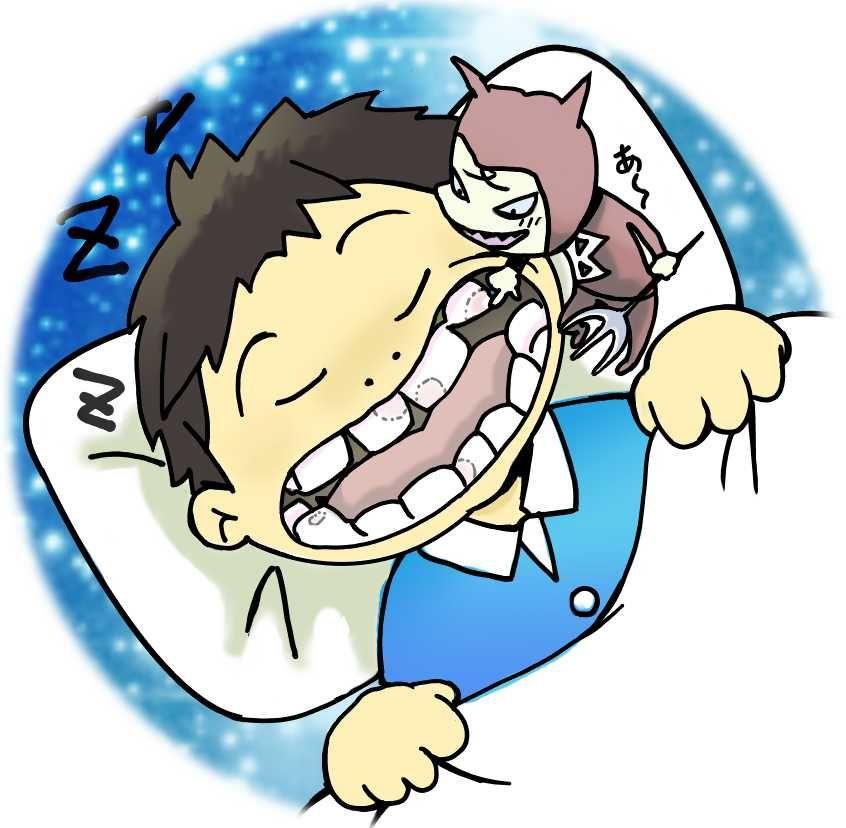 虫歯と子供の歯、夜